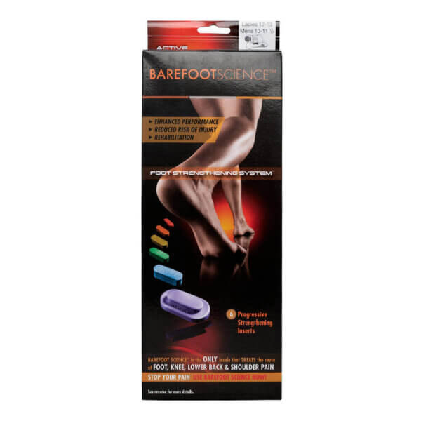 Barefoot Science Insoles Active range packaging front