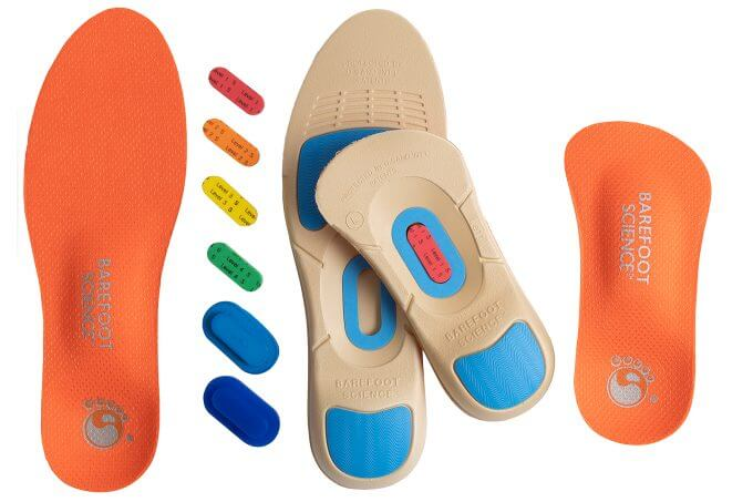 An image of Barefoot Science Active range of insoles